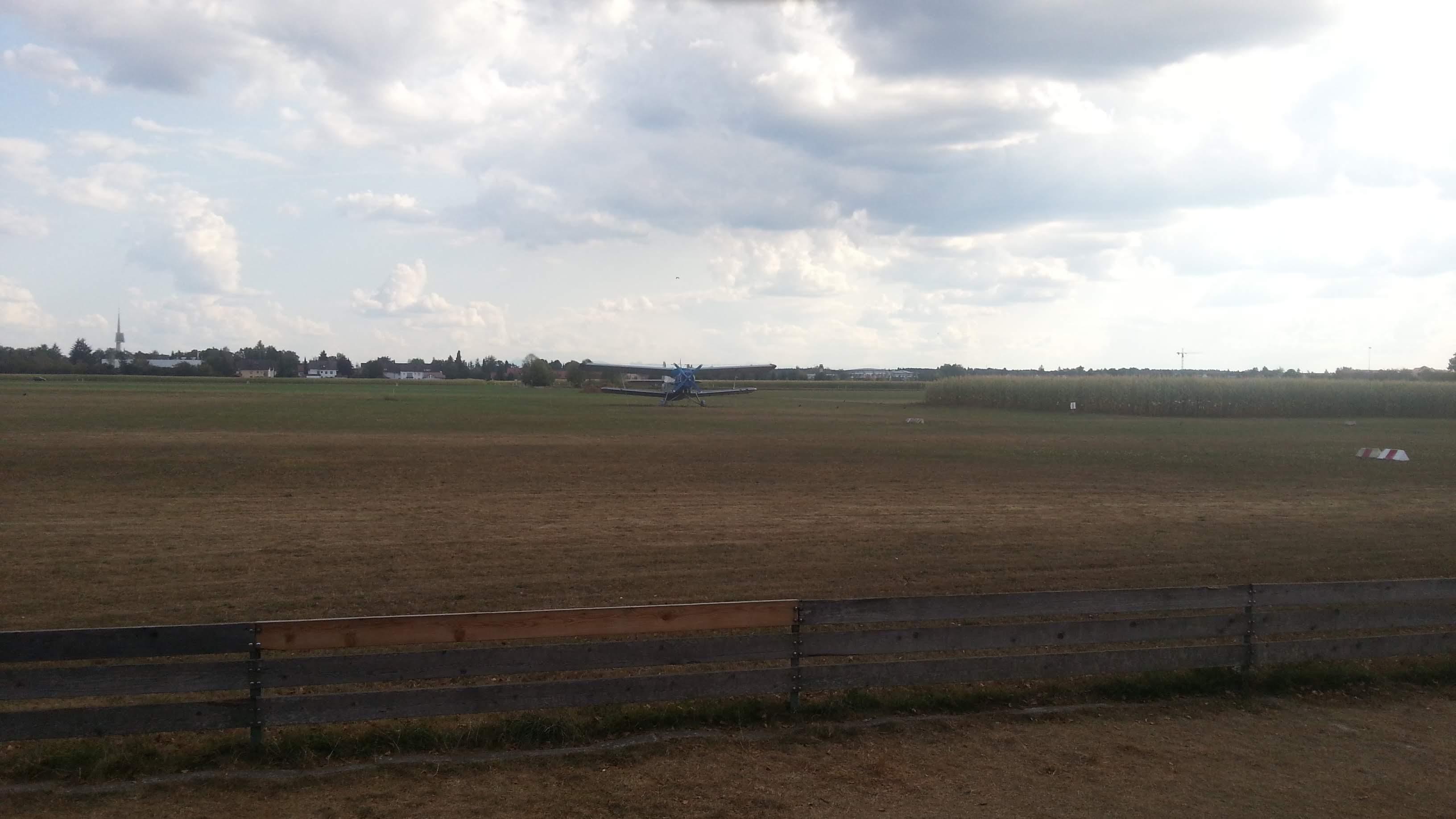Am Flugplatz kurz vor Bad Wörishofen